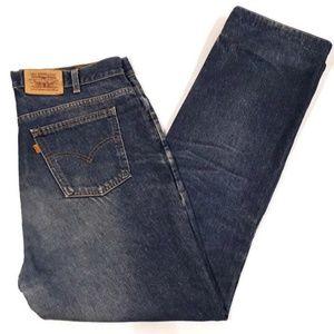 Vintage Style Levis Jeans Orange Tab Dirty Hemmed
